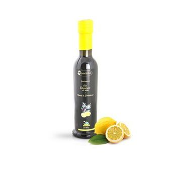 EXTRA VIRGIN OLIVE OIL, LEMON-FLAVOURED, GLASS, 250 ML GARGIULO