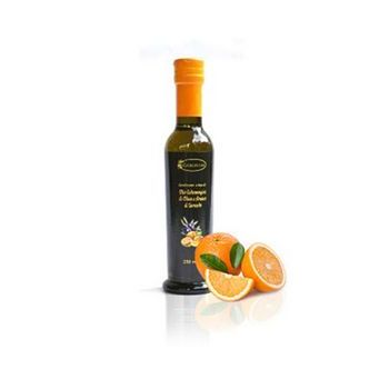 EXTRA VIRGIN OLIVE OIL, ORANGE-FLAVOURED, GLASS, 250 ML GARGIULO