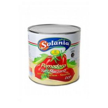 SAN MARZANO PEELED TOMATOES, TIN, 3/1 (6 PC X BOX) SOLANIA