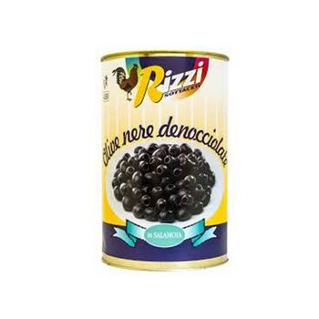 PITTED BLACK OLIVES 28/32, TIN, 5/1