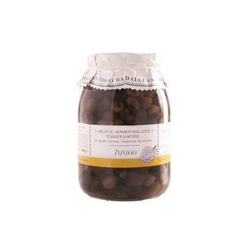 PITTED TAGGIASCHE OLIVES, GR.950 - ANFOSSO