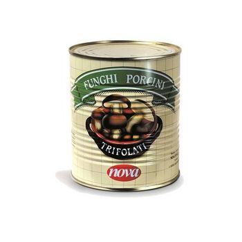 PORCINI MUSHROOMS WITH HERBS, TIN, GR.800, NOVA