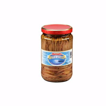 ANCHOVY FILLETS IN SUNFLOWER SEED OIL, JAR, GR.1700