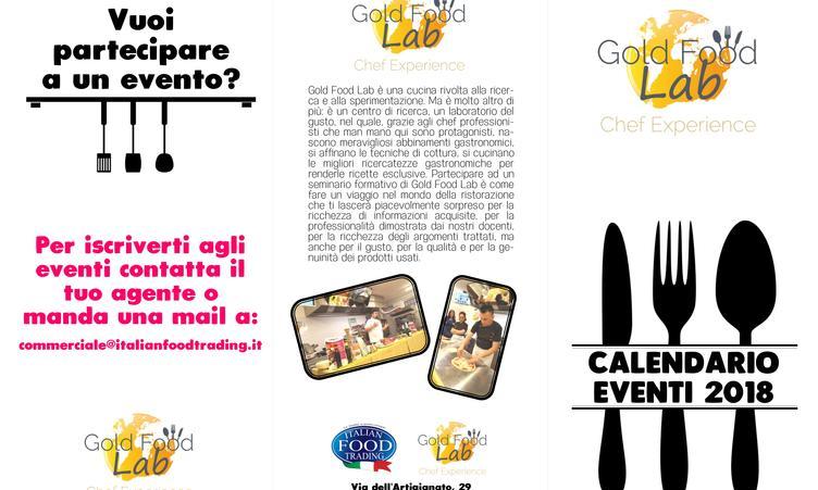 Calendario Eventi Gold Food Lab 2018