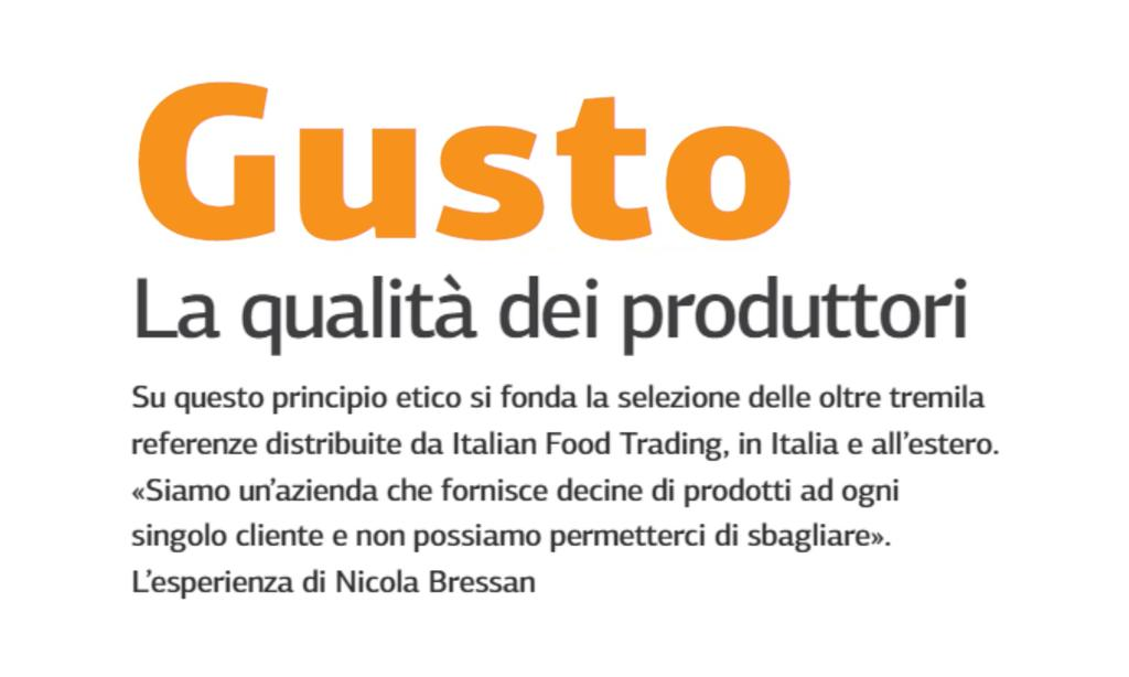 Gusto: The quality of manufacturers