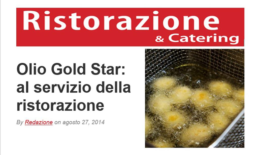 Olio Gold Star:  at the service of Restaurants